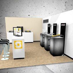 A trade show booth designed by Skyline E3