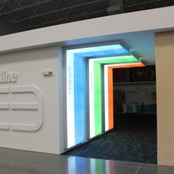 The Skyline E3 office with specially designed elements.