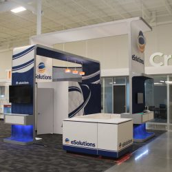 A rental exhibition stand built and designed by Skyline E3.