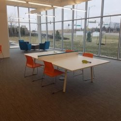 Part of the office interior at Skyline E3 in Lenexa.