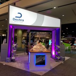 Purple trade show display