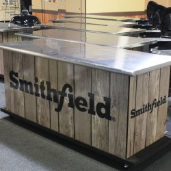 Trade show displays for a grill company designed by Skyline E3.