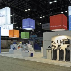 Large and open trade show display