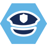 Icon of a security hat