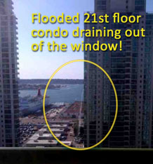 flooded-21st-floor-condo-draining-water