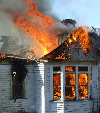 If you have fire damage, call ServiceMaster Absolute!