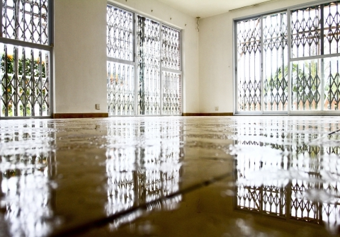 Avoid water damage by drying floors fast!