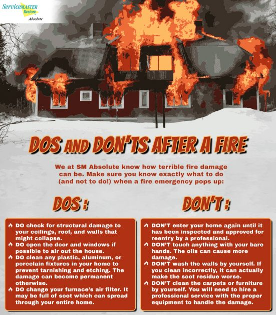 Dos and Don'ts After Fire Damage | Service Master Restore