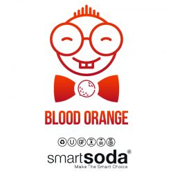 Blood orange flavored natural soda from SmartSoda
