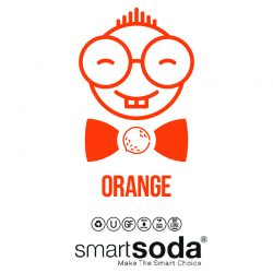 Orange flavored sparkling soda from SmartSoda