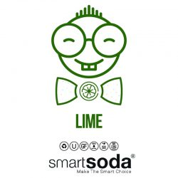 Lime flavored sparkling soda from SmartSoda