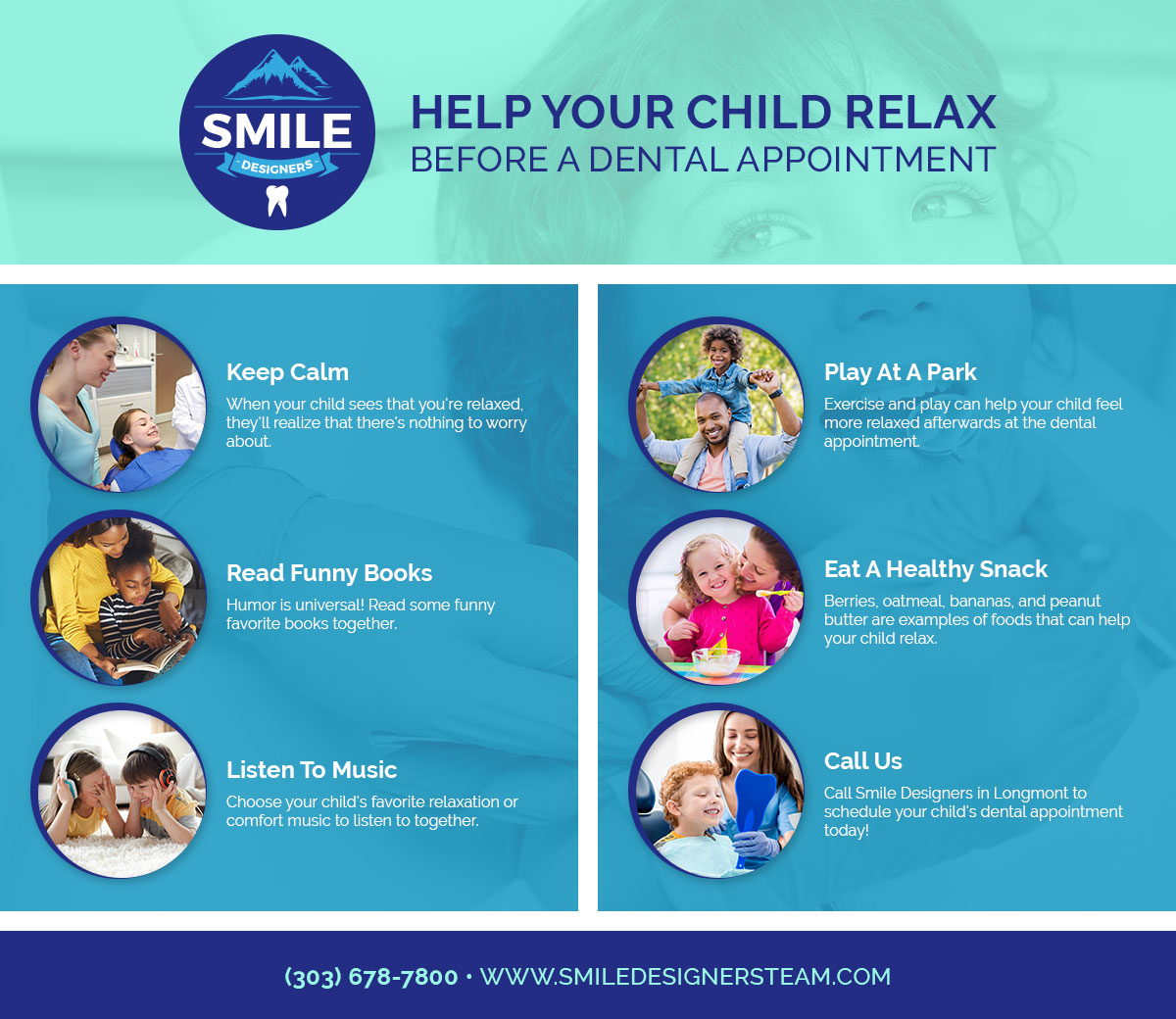 Help Your Child Relax Before A Dental Appointment Infographic