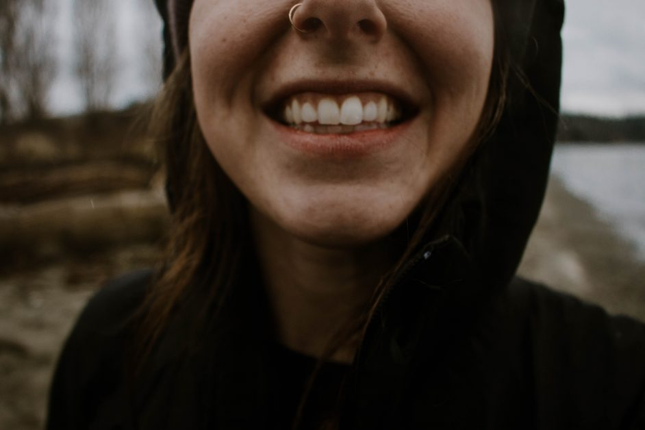 An image of a person smiling.