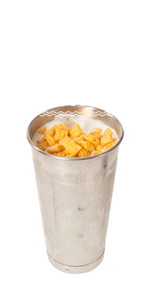 At Soda Jerks, our delicious milkshakes can come with Cap'n Crunch!