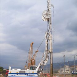 The Soilmec SR-30 performing at the jobsite