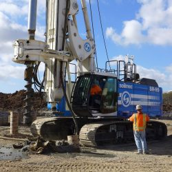 The SR-95 HT from Soilmec drilling in the dirt