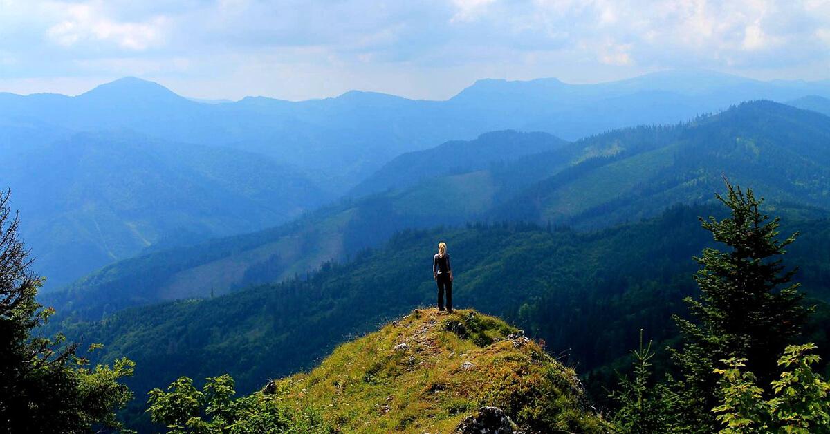 Woman Mountain View