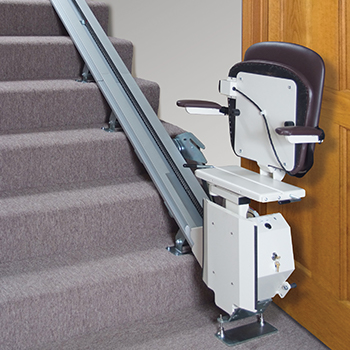 Stair lift with fold-down seat from Southern Home Elevators