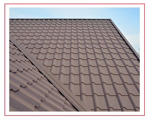 Image of metal roofing on a residential home.