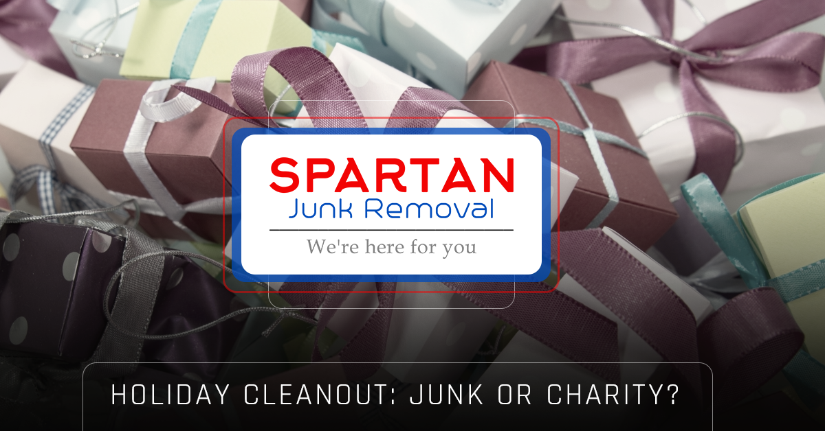 Banner: Holiday cleanout - junk removal or charity?
