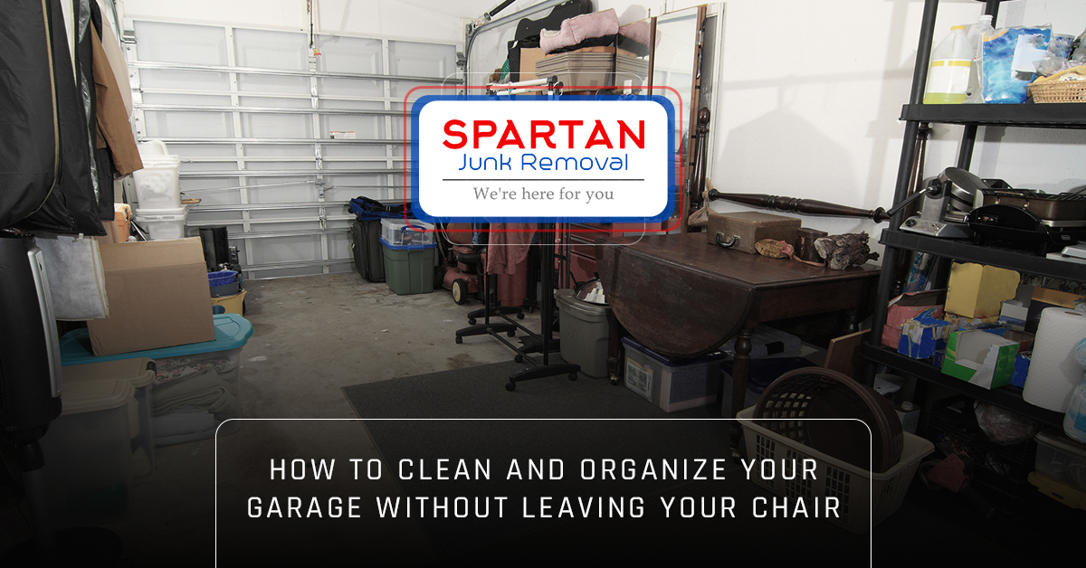 Messy baltimore garage in need of storage solutions