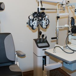 An eye doctor's office at Spectrum Eye Care