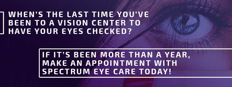 Call to action for getting your eyes checked.