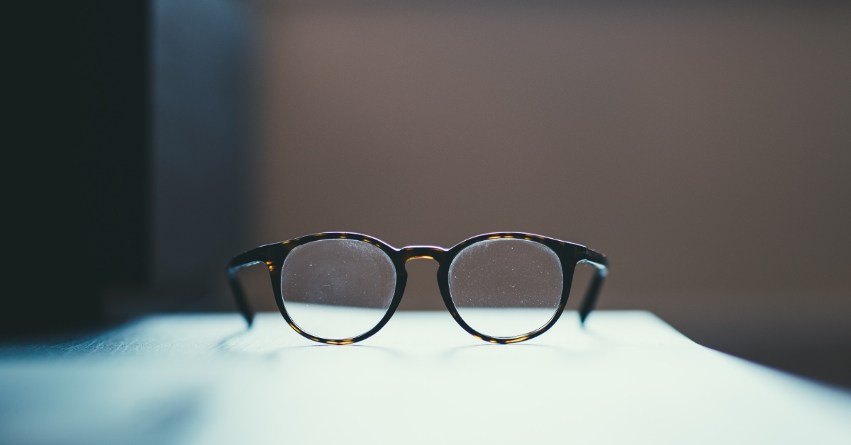 Image of glasses set on a table.