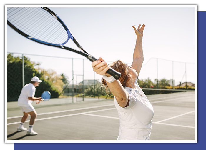 Needing prescription sports goggles to protect your eyes while playing tennis.