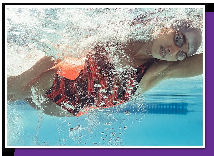 Swimming with prescription goggles.