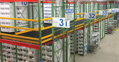 Warehouse shelving from Speedcell