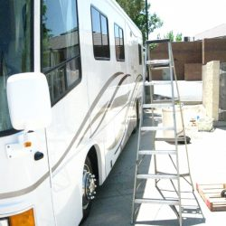 Full service auto detail on a large camper home.