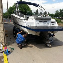 Our car wash can handle your boat as well.