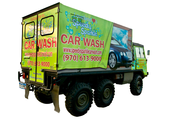 Speedy Sparkle Car Wash gives full service car detail to all vehicles.