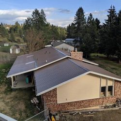 ranch house with new metal roof