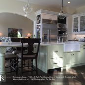 Kitchen island expanded to table - St Croix Cabinet Solutions