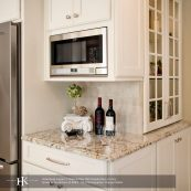 Kitchen corner detail with custom cabinets and countertops - St Croix Cabinet Solutions