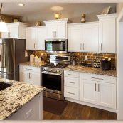 Finished kitchen after custom cabinet installation - St Croix Cabinet Solutions