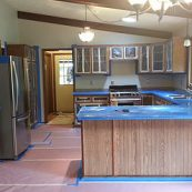 A kitchen prepared for a cabinet remodel - St Croix Cabinet Solutions