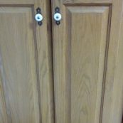 Close-up of cabinet doors - St Croix Cabinet Solutions