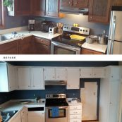 Before and After Kitchen Cabinet Replacement