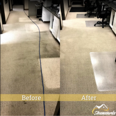 Before & After Office Carpet Cleaning