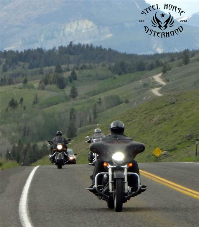 Joan, Dawn and Jeanette Beartooth Pass Riding June 2015