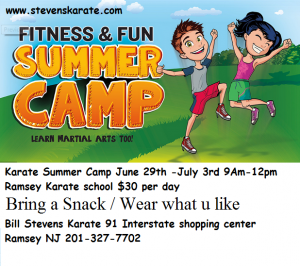 Karate summer camp ramsey nj