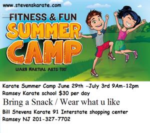 Karate summer camp ramsey nj