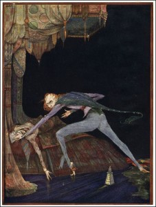 "Edgar Allen Poe's ""The Tell-Tale Heart"" illustrated by Harry Clarke"