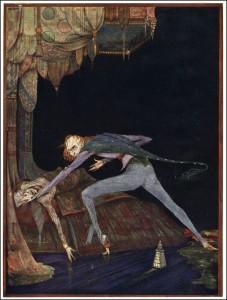 """Edgar Allen Poe's """"The Tell-Tale Heart"""" illustrated by Harry Clarke"""