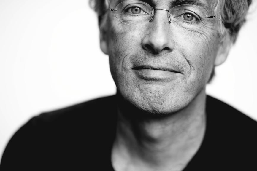 Man portrait black and white