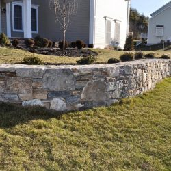 A rustic stone wall in the Walpole area