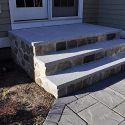 These Walpole stone steps were constructed with precision in mind